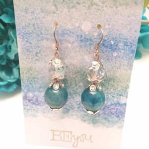 🛍️2/$15🛍️ Agate and Czech Crystal Earrings